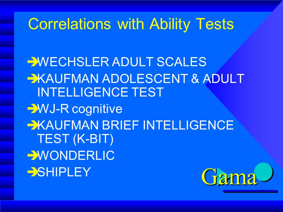 intelligence kaufman test Adolescent adult