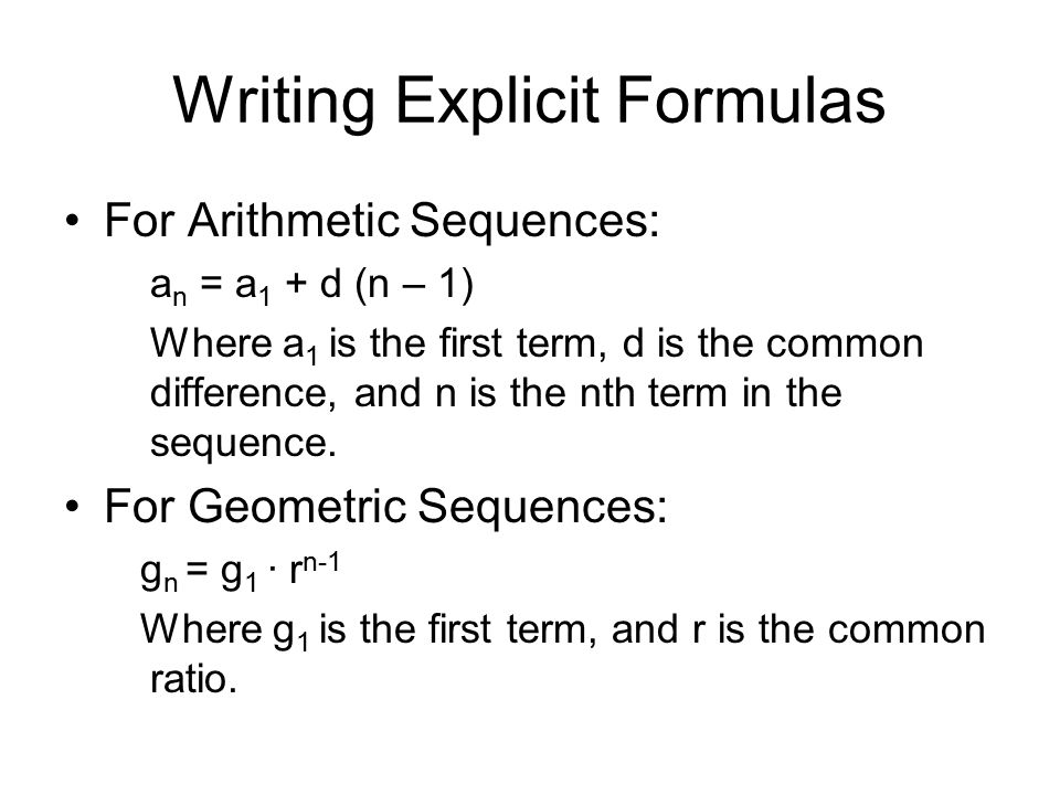 Arithmetic vs. Geometric Sequences and how to write their ...