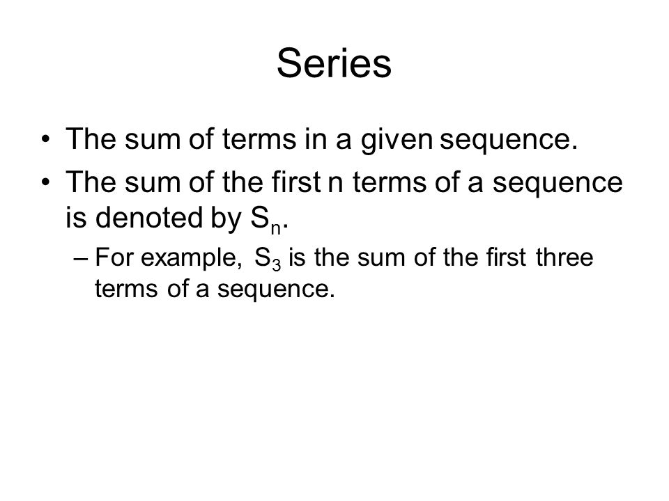 how to find the sum of a sequence