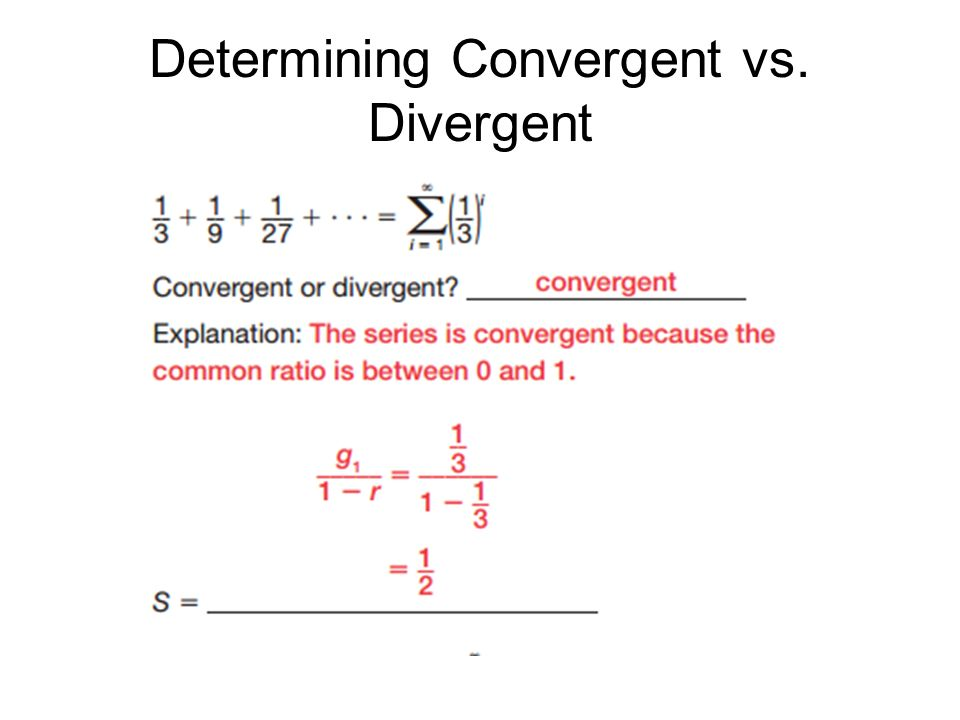 convergent and divergent sequences pdf