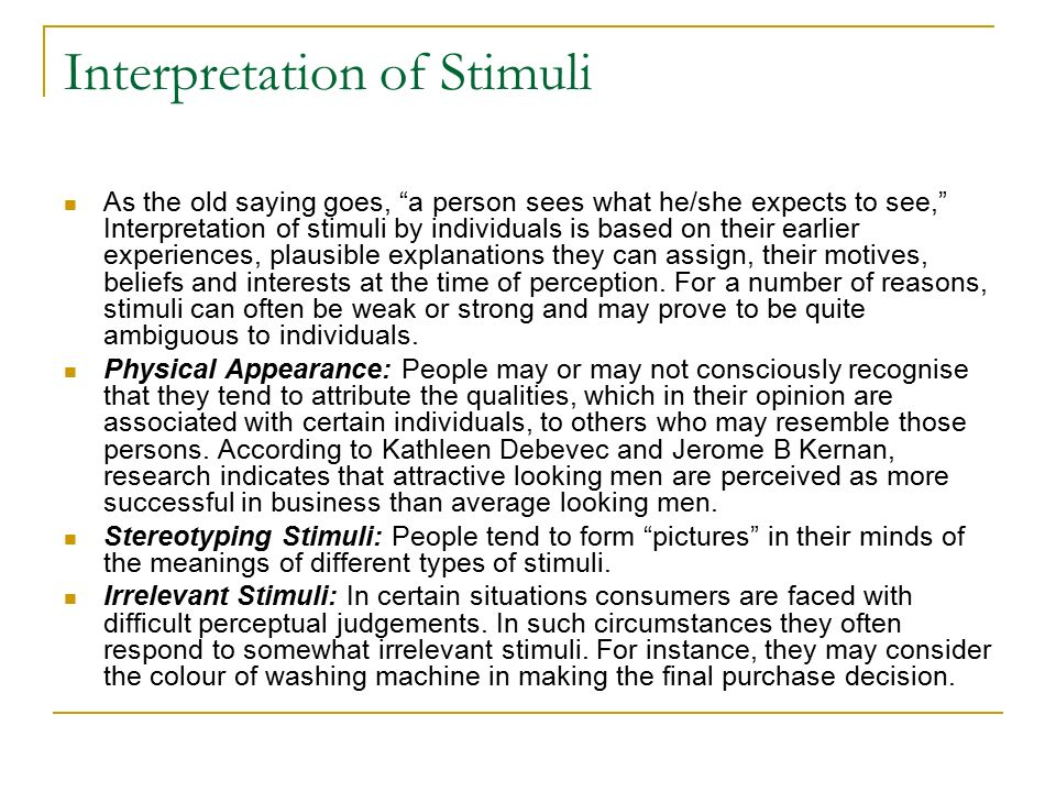 a study of different stimulus affecting impression formation Can evolve in a different way from  (2000) interpersonal impression formation in cmc in ex  (2001) a study affecting the adoption of.