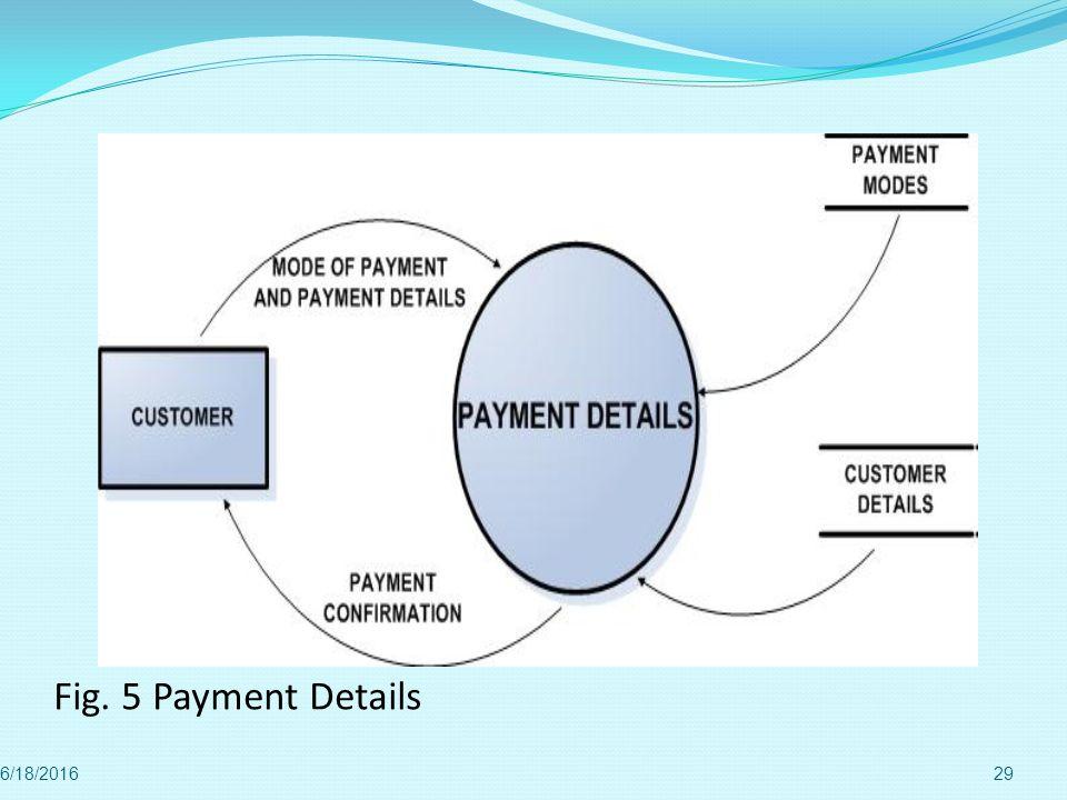 Fig. 5 Payment Details 4/28/2017