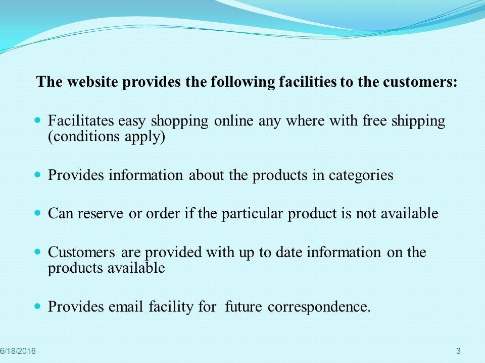 Provides information about the products in categories