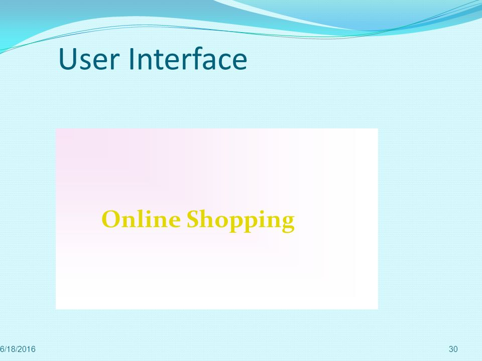 User Interface Online Shopping 4/28/2017