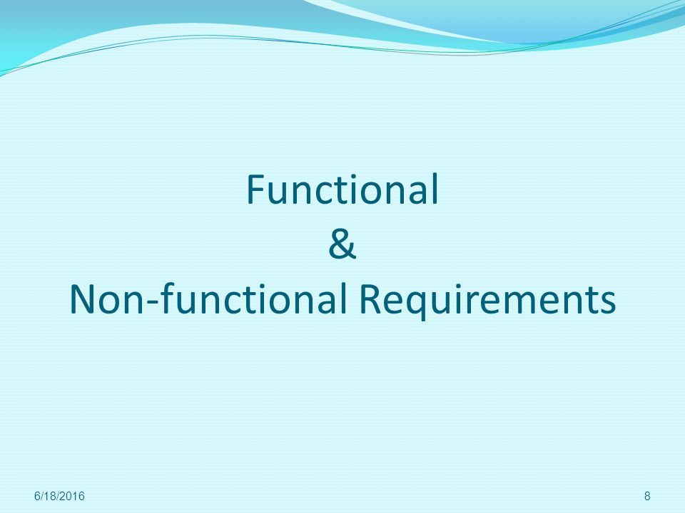 Functional & Non-functional Requirements