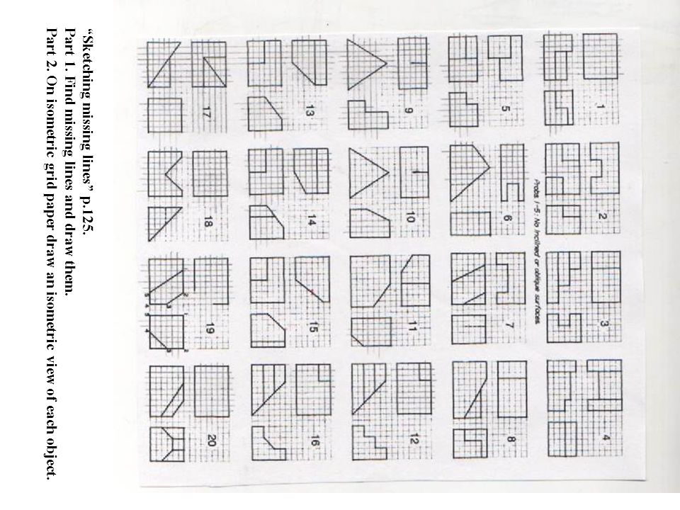 how to draw on grid paper