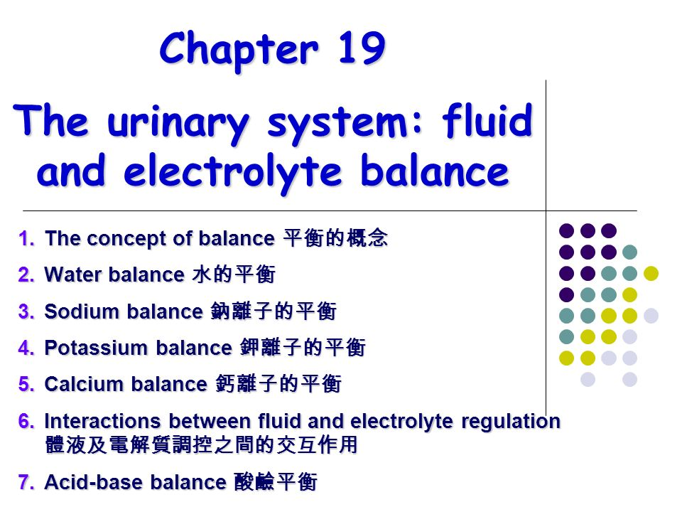 Urinary fluid electrolytes essay