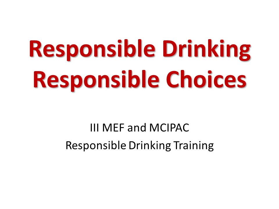 consequences of irresponsible drinking Causing youth to make irresponsible decisions, encounter memory lapses, or  process  casual attitude ignores the serious consequences of alcohol abuse by .