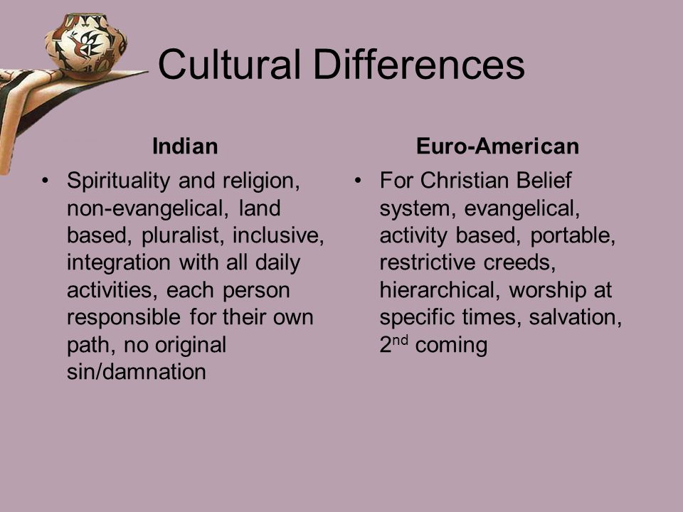 Cultural Differences Indian Euro-American