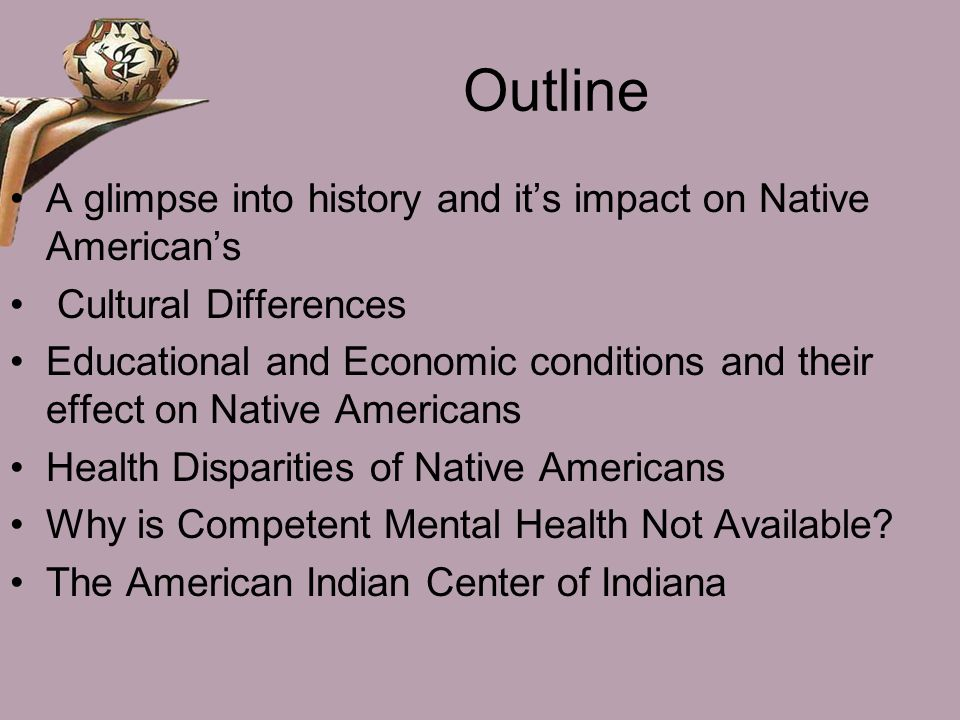 Outline A glimpse into history and it's impact on Native American's
