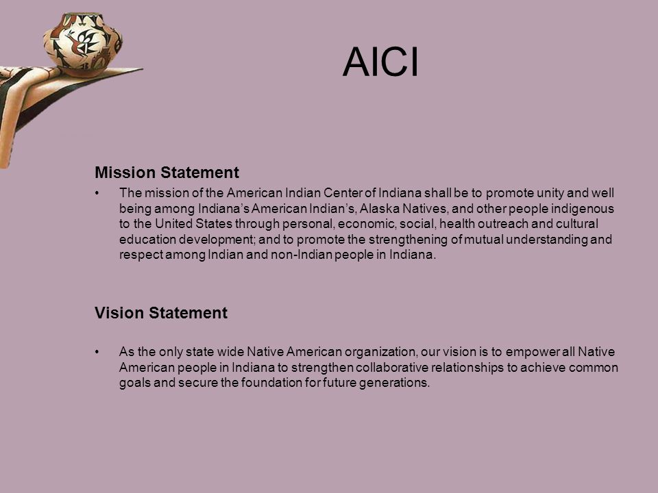 AICI Mission Statement Vision Statement
