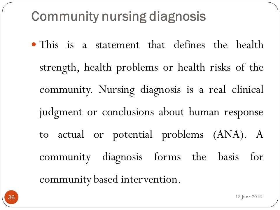nursing interventions for community health Community nursing care plan - free download as word doc (doc), pdf file (pdf), text file (txt) or read online for free.