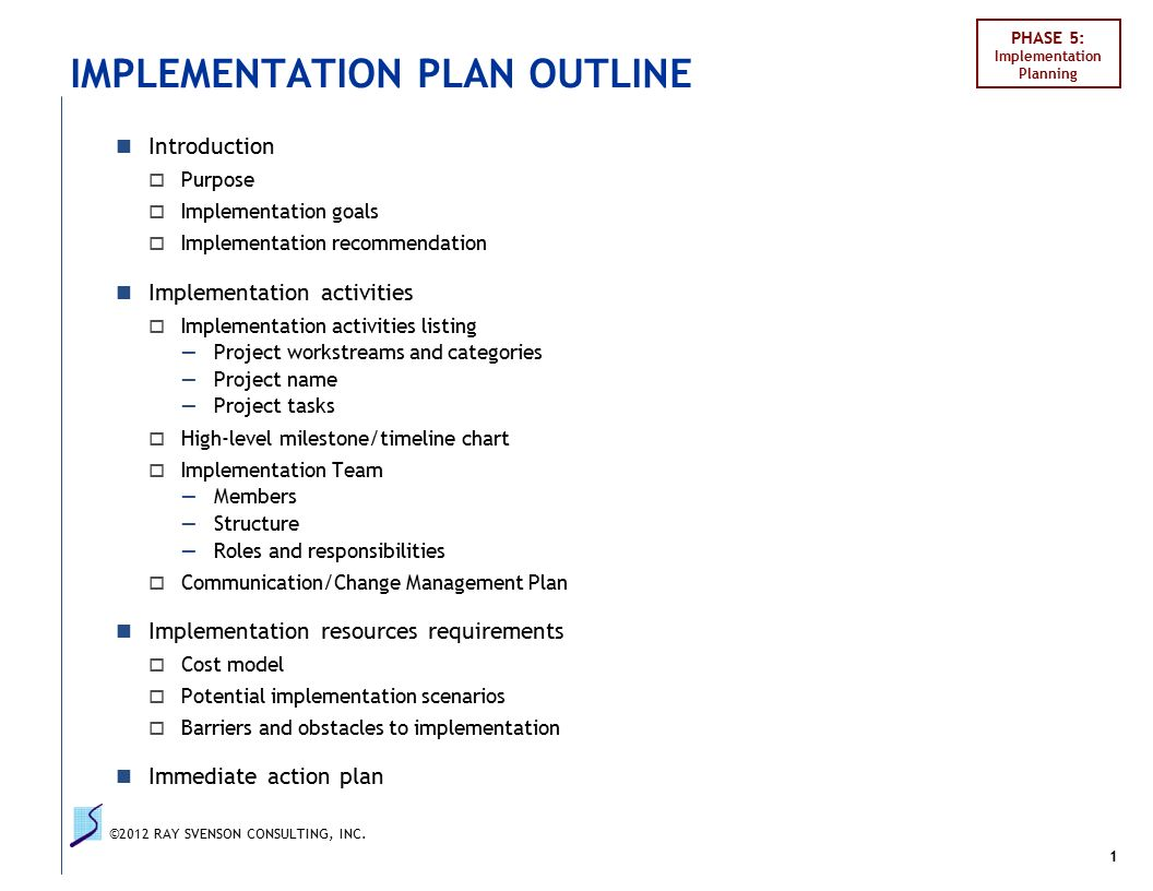 an introduction to the project planning and implementation Planning a project  estimating is part of planning and you should be able to estimate and cost the human and  previous 8 drawing up the implementation plan.