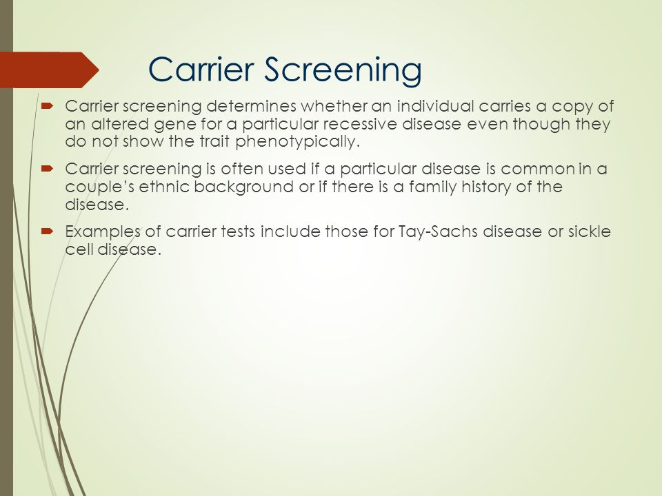 Carrier Screening