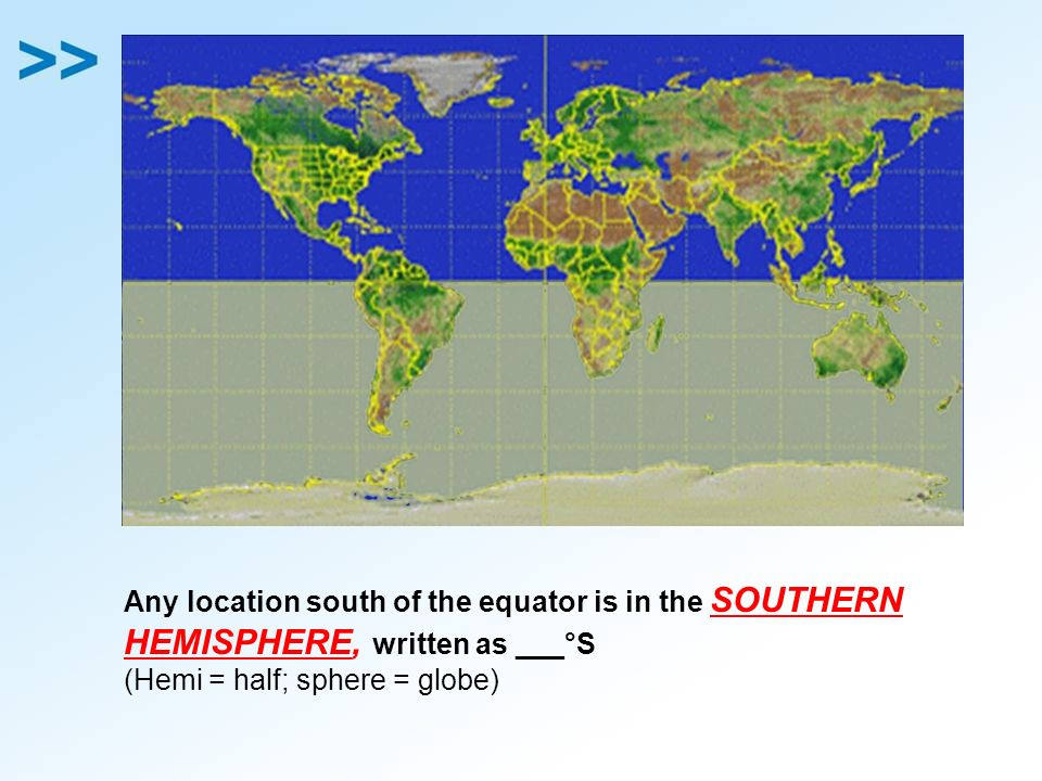 Eq 5 what are important locations and terms on a world map any location south of the equator is in the southern hemisphere written as gumiabroncs Gallery