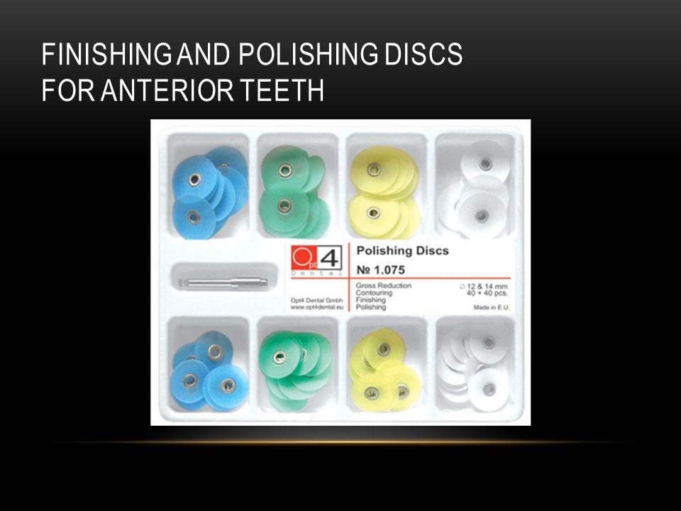 Finishing and polishing discs For anterior teeth