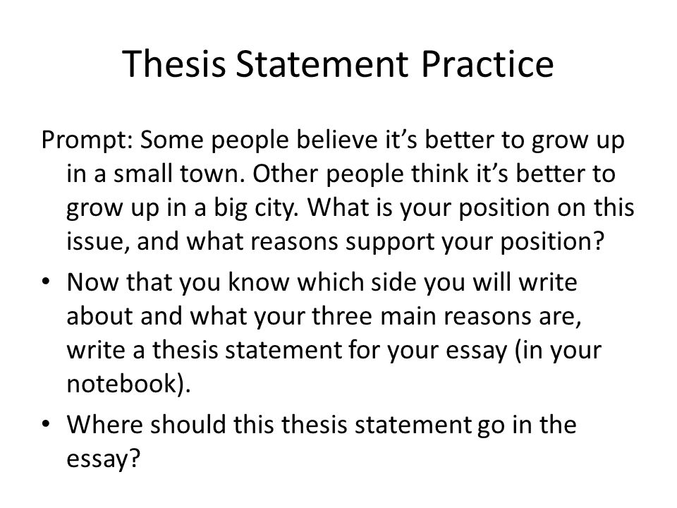 how to write an a sol essay ppt video online  10 thesis statement practice