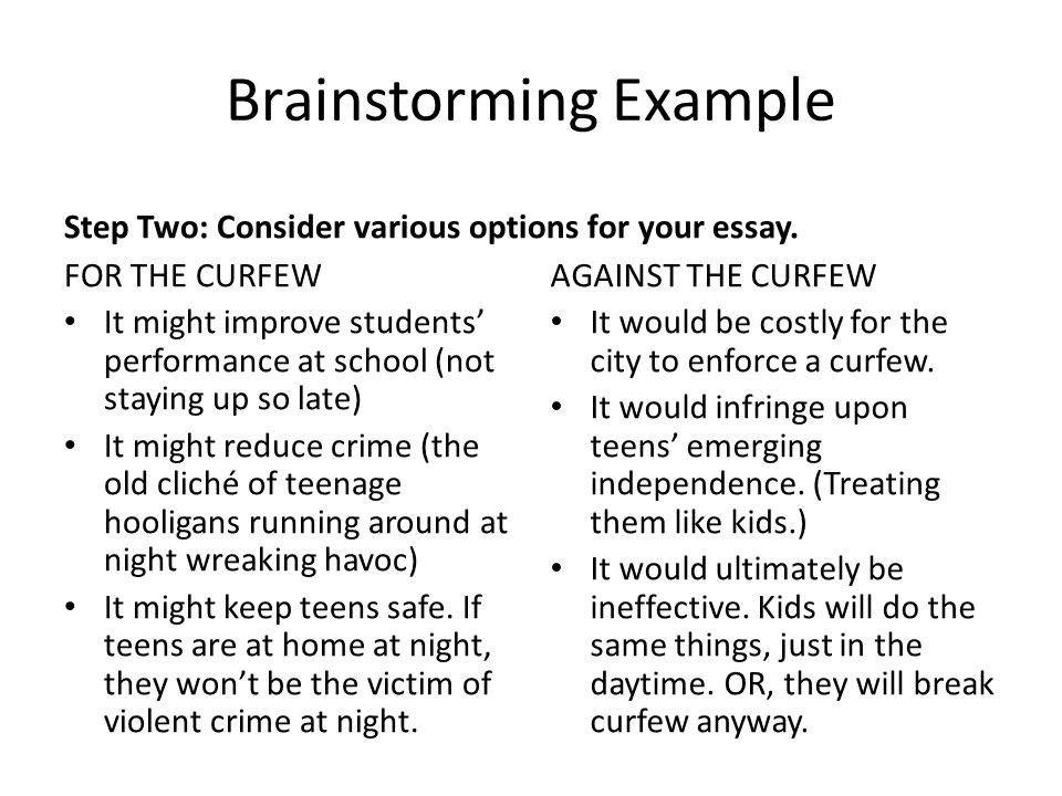 Teenage curfew essays