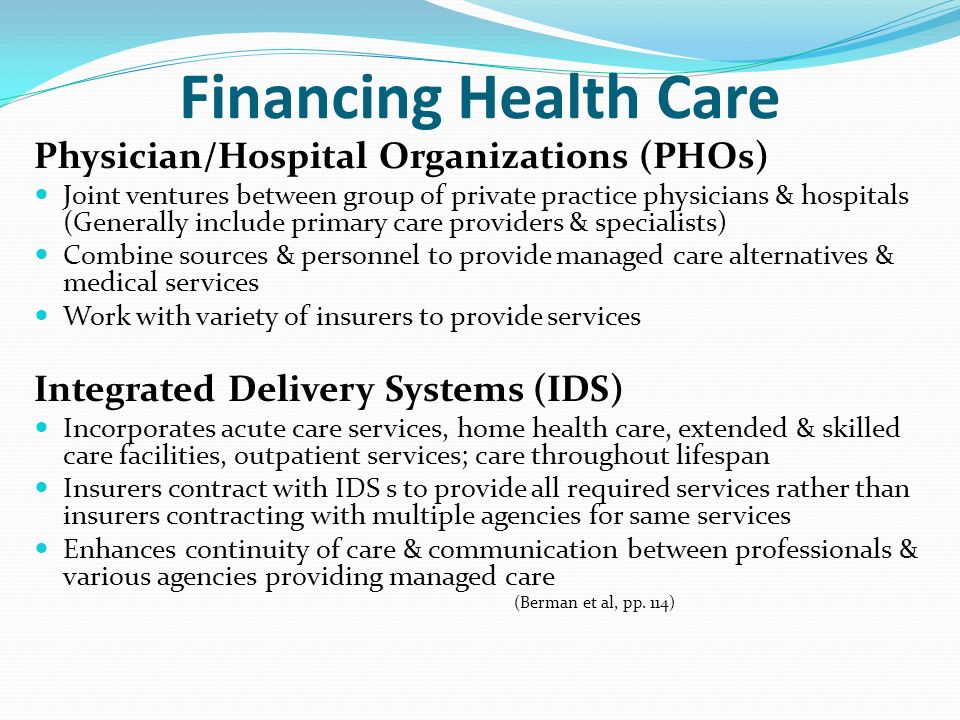 Funding health care services