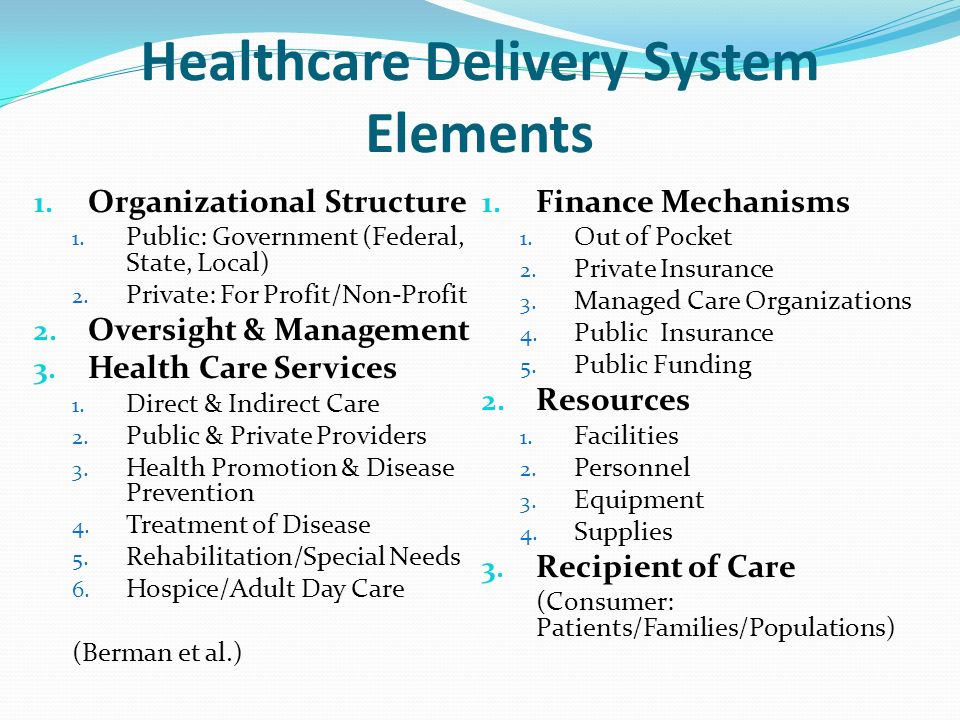 delivery of health care Healthcare service delivery transformation: trends in care delivery and community health webinar hosted by the office for state, tribal, local and territorial support.