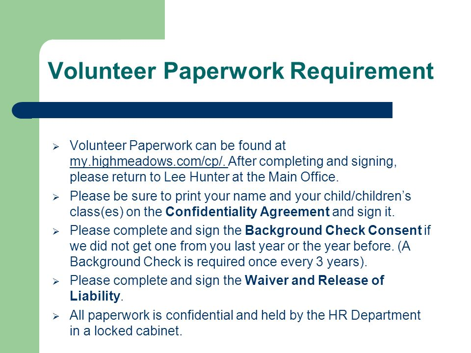 Volunteering And Confidentiality - Ppt Download