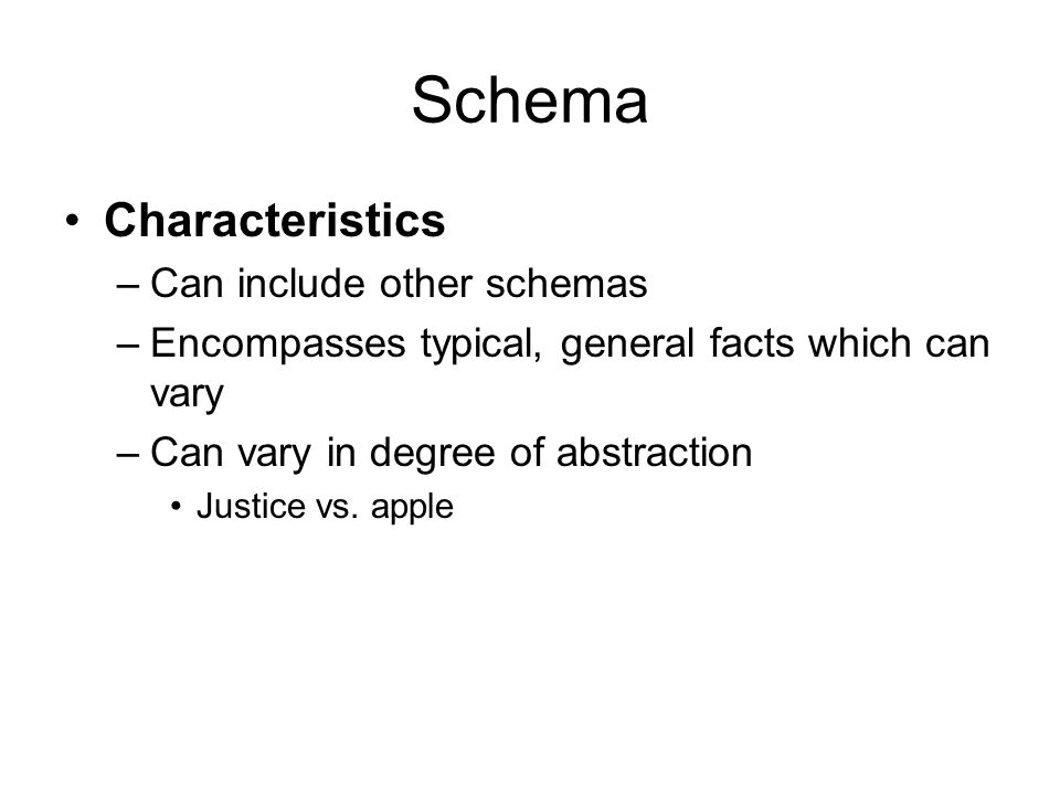 schema theory research papers Information processing and memory: theory and applications   this paper discusses theories associated with information processing and memory it includes .