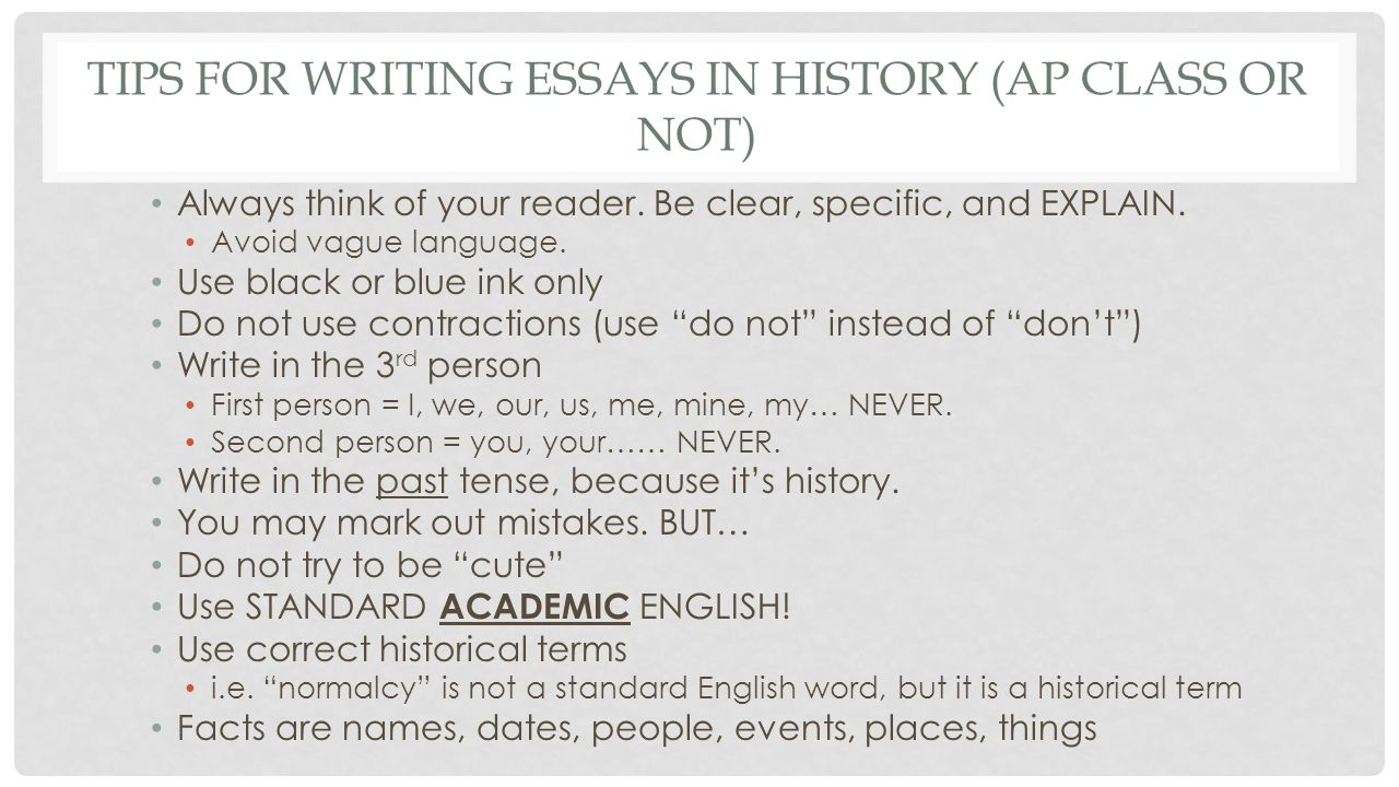 essay questions for ap us history World history ap economics us history who's who in world history ms napp's quiz blog unlike a document based essay question.