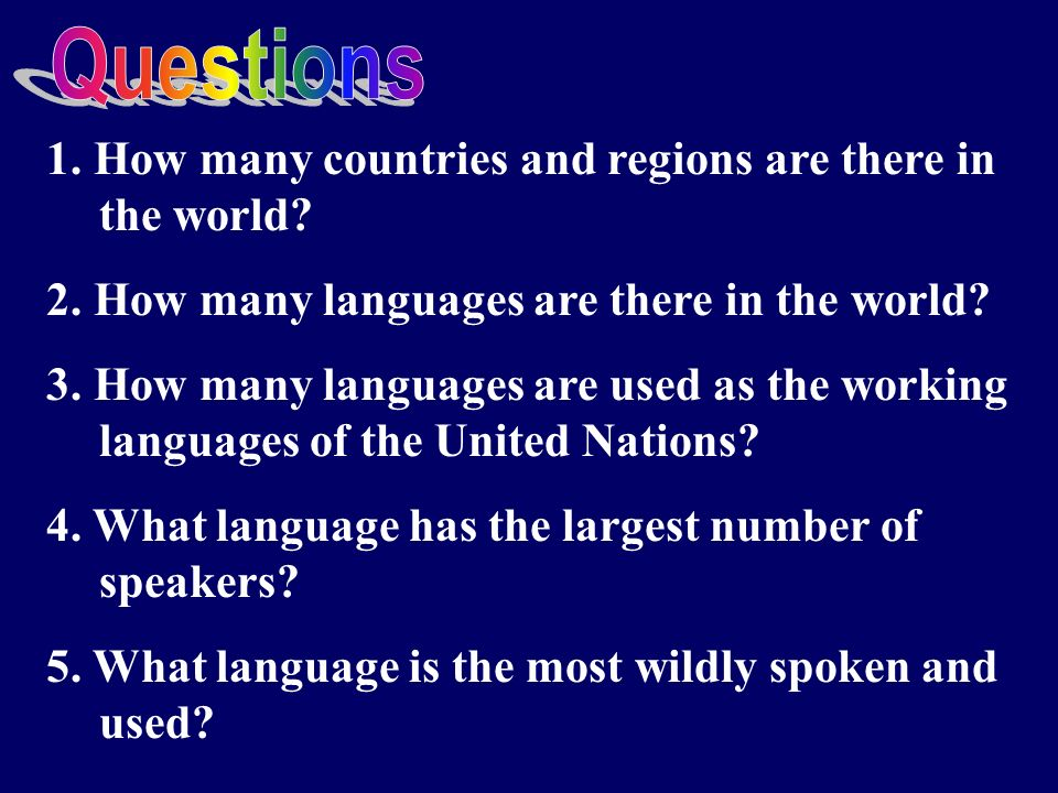 Welcome To My Class Ppt Download - What languages are there