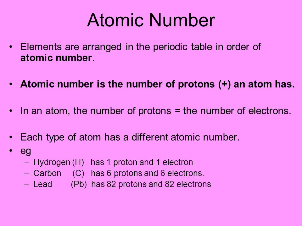 how to work out number of protons