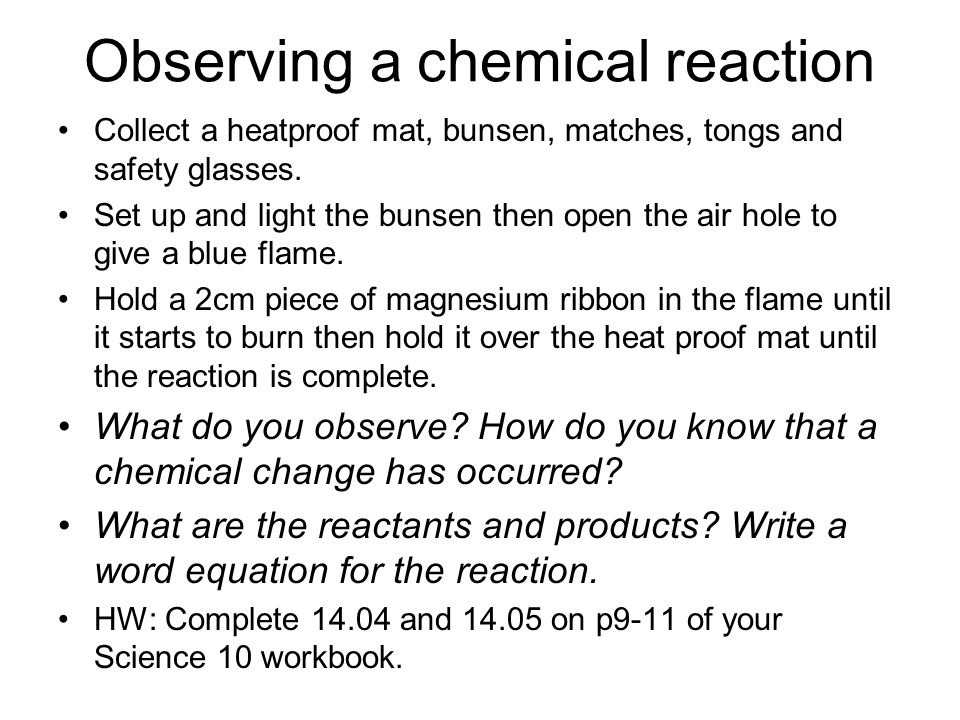 observing a single chemical reaction