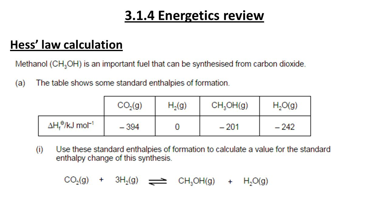 calorimetry and hess law Calorimetry – experiment a enthalpy of formation of magnesium oxide of mgo using hess' law calorimetry could be used to see if.