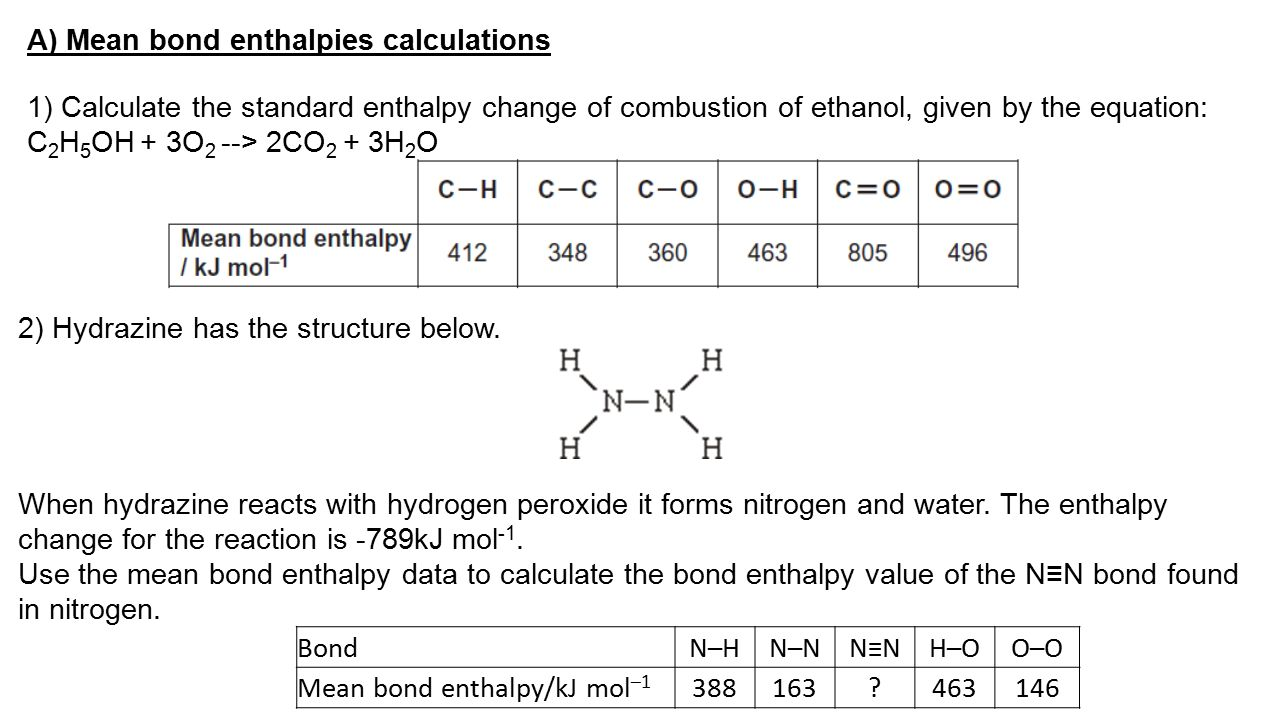 enthalpy change of reaction The equation for the standard enthalpy change of formation (originating from  enthalpy's being  δhreactiono = δh fo[c] - (δh fo[a] + δh fo[b].