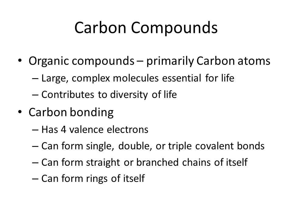 Modern Biology Chapter 3 ppt download – Carbon Compounds Worksheet