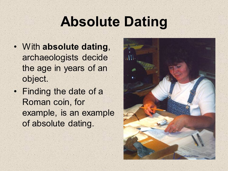 What is absolute dating definition