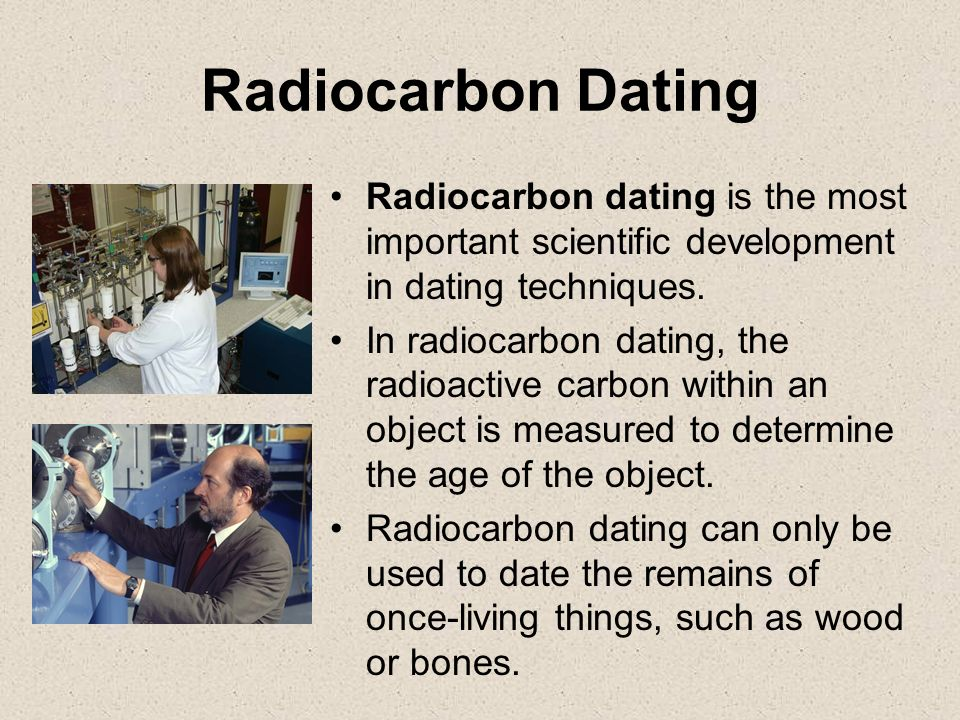 Carbon dating used in archaeology