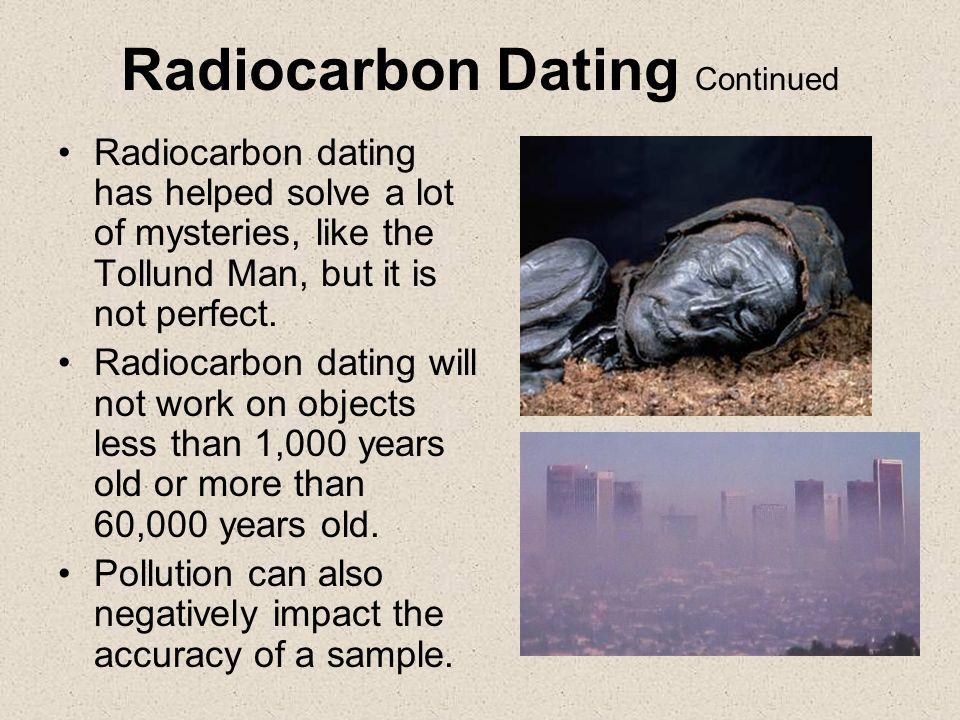 Radioactive dating methods beyond 60000 years