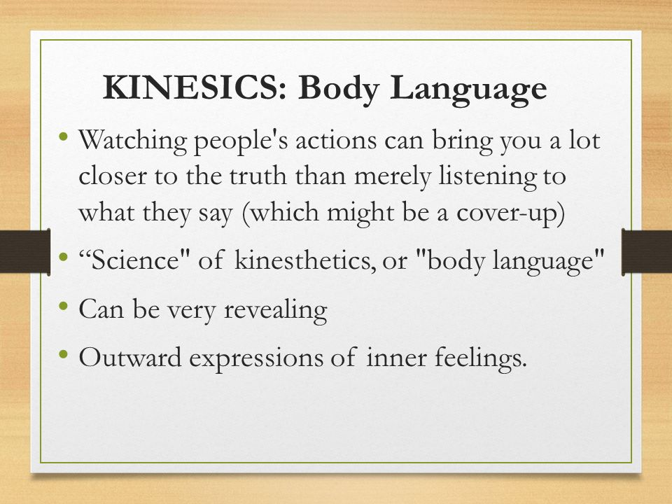 kinesics nonverbal communication and body language Nonverbal communication is an important and little-understood aspect of human communication this book deals primarily with two aspects of nonverbal communication: paralanguage and kinesics paralanguage includes vocalizations such as hissing, shushing, and whistling, as well as speech.