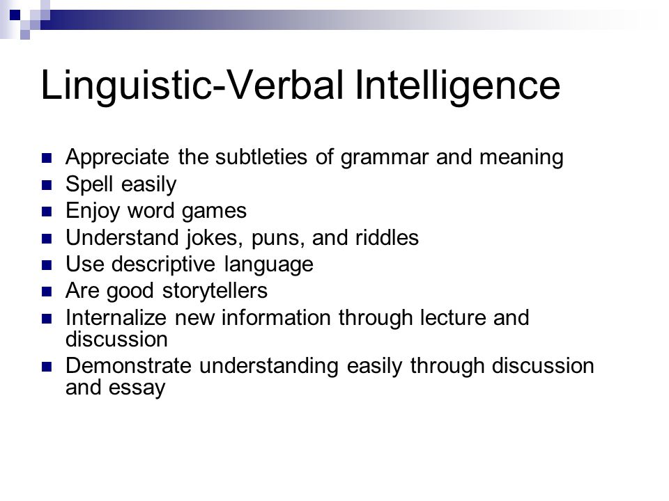 multiple intelligences ppt video online  linguistic verbal intelligence
