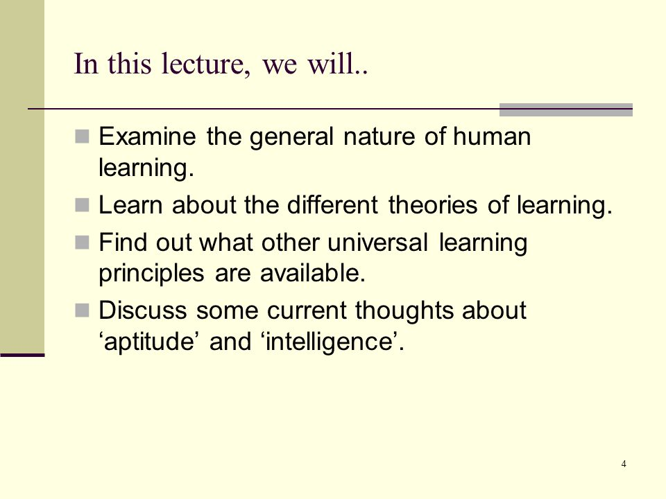 The different theories of human learning