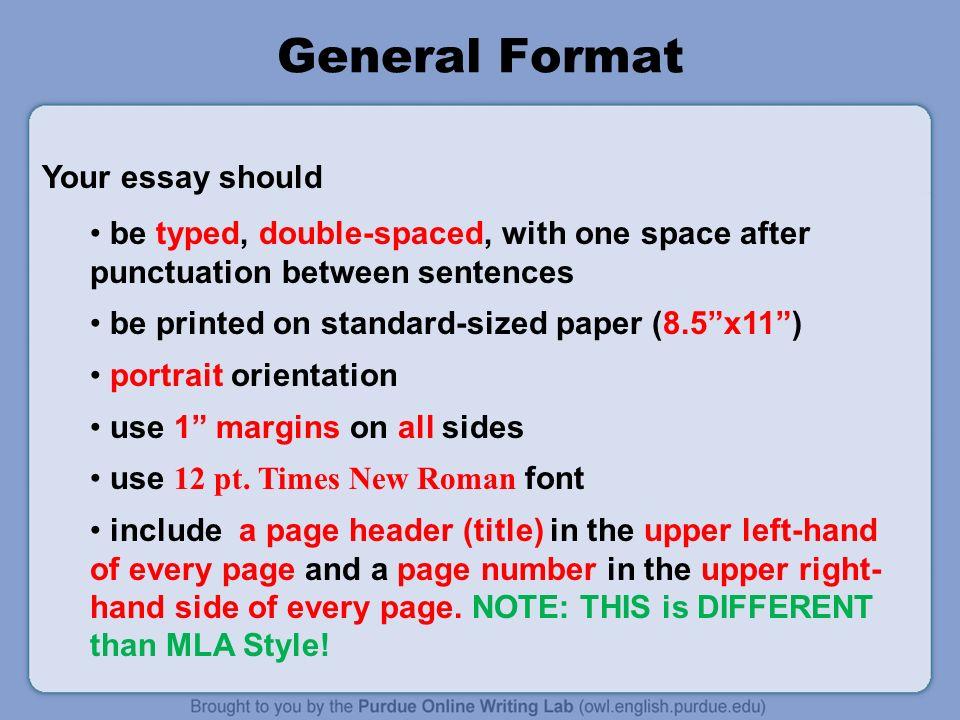 apa format essays