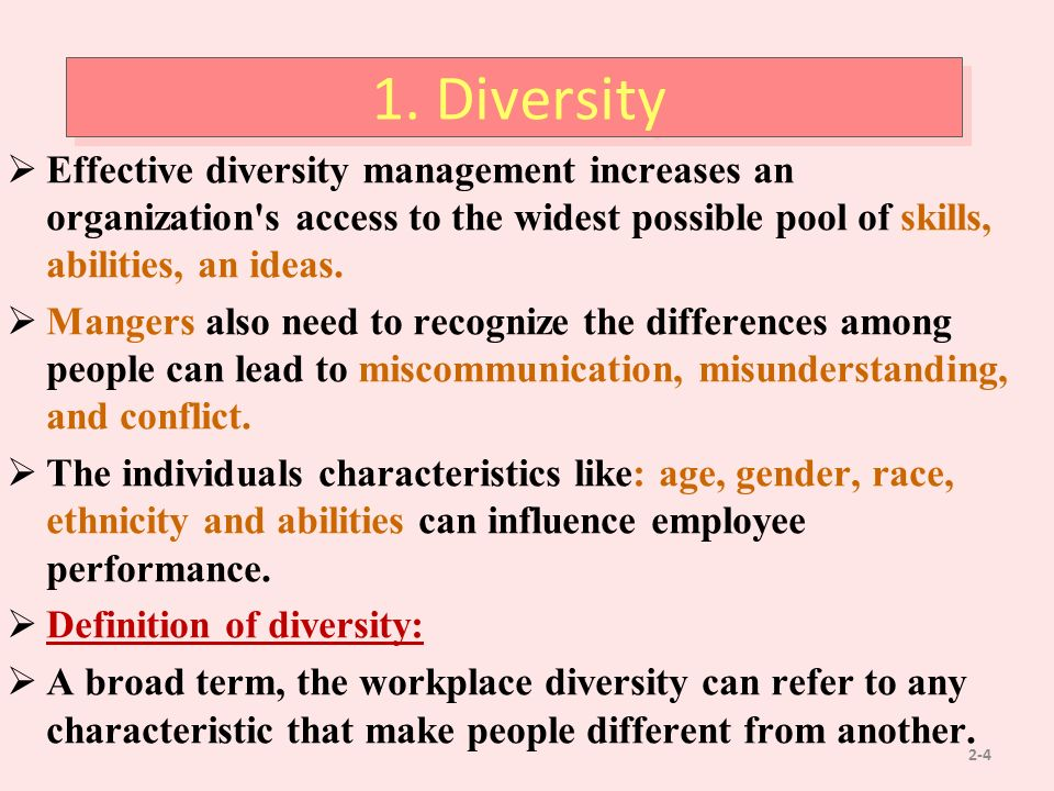 surface level deep level diversity - focuses on integrating deep-level diversity differences, such as personality, attitudes, beliefs, and values, into the actual work of the organization -consistent with achieving organizational plurality.