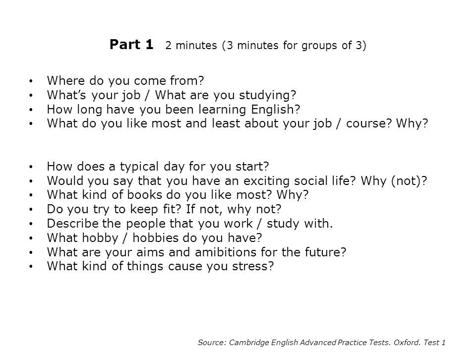 2 part 1 2 minutes 3 minutes for groups of 3 where do you come from whats your job - Do You Like Your Job What Do You Like About Your Job Or Least Like
