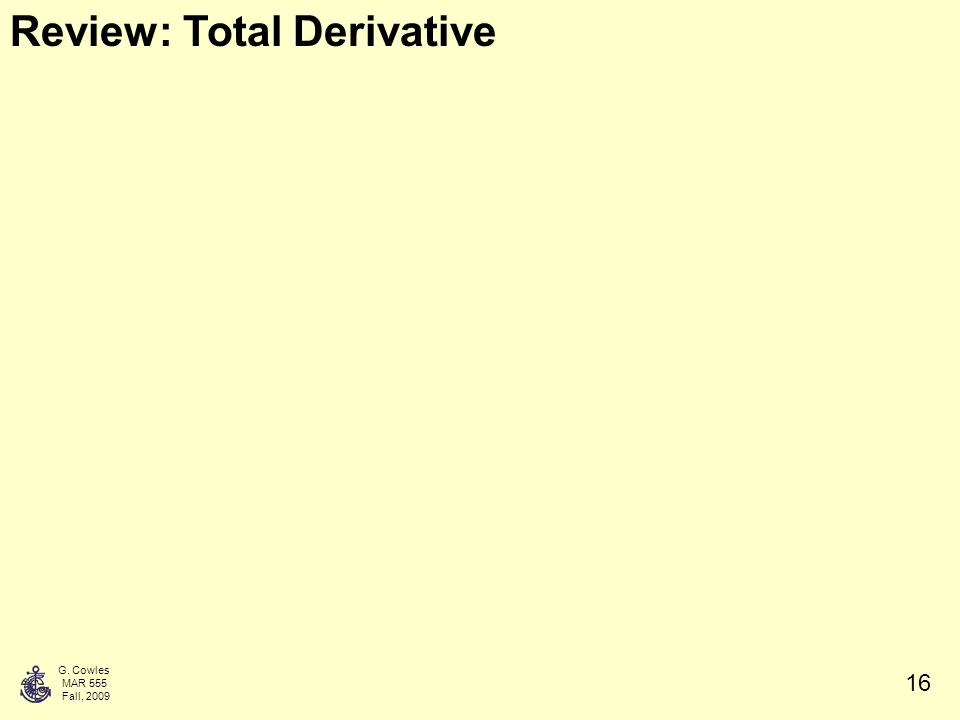 how to take a total derivative