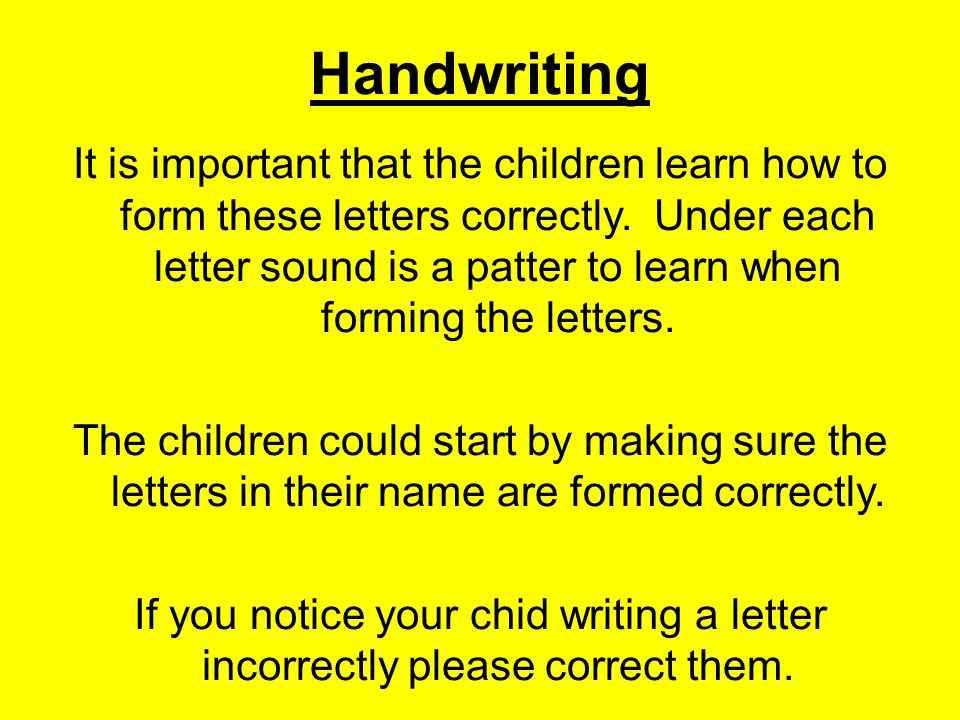 writing a letter correctly