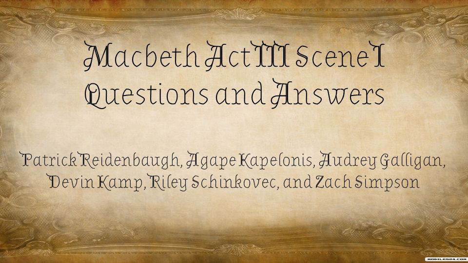 essay-type questions and answers of macbeth