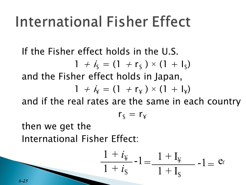 fisher effect Fisher effect what it is: the fisher effect is an economic hypothesis stating that the real interest rate is equal to the nominal rate minus the expected rate of inflation.