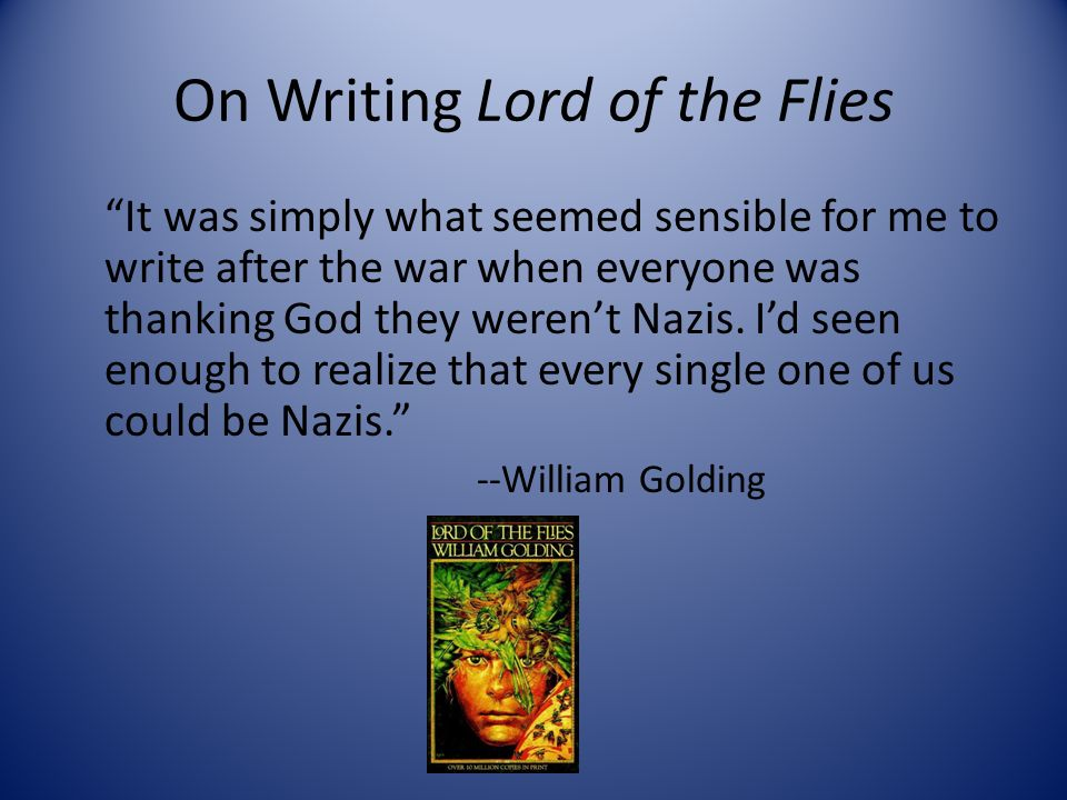 "the theme of survival for the fittest in the lord of the flies by william golding In the novel ""lord of the flies"" by william golding, a group of boys are stranded on an island and have to survive, however as the story progresses the boys become more barbaric and savage like even though there are good people in this world, there will always be evil."