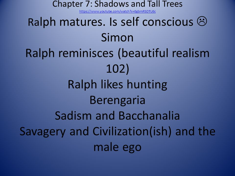 hunting and ralph essay Get an answer for 'compare and contrast jack's and ralph's characters in william golding's lord of the flies, using what others say and how others behave as well as jack's and ralph's.