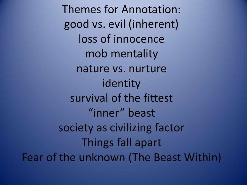 on writing lord of the flies ppt video online  4 themes