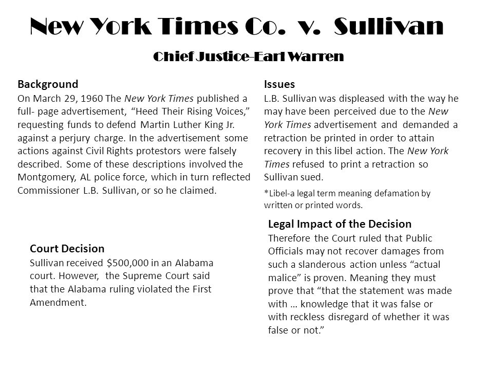 the 50th anniversary of new york times v sullivan juris magazine